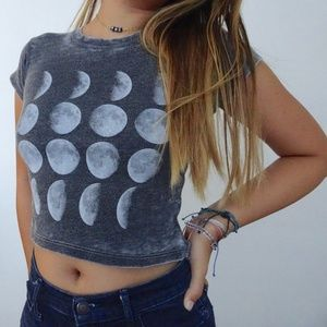 Moon Phases Cropped Top from Brandy Melville